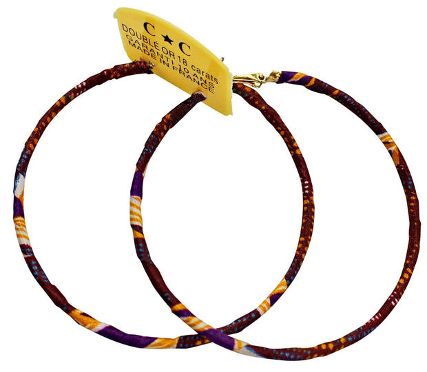 African Print Circle Hoop Earrings - Afrilege