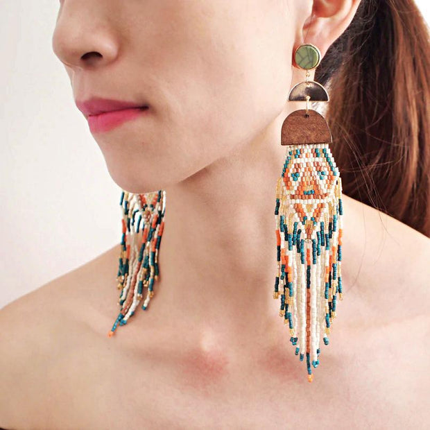 Bohemian style Ethnic Earrings - Afrilege