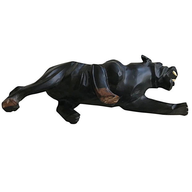 Ebony Hand Carving African Black Panther Figurine statue - Afrilege