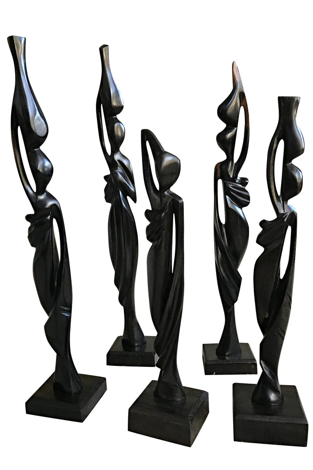 Ebony Hand Carving African Figurines statues - Afrilege
