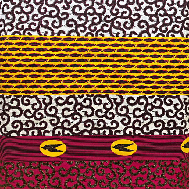 100% Cotton African Fabric / 1 yard - Afrilege