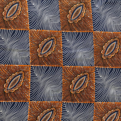 Fabric - 100% Cotton African Fabric / 1 Yard