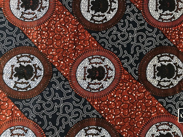 100% Cotton African Fabric by the fabric / 1 yard - Afrilege