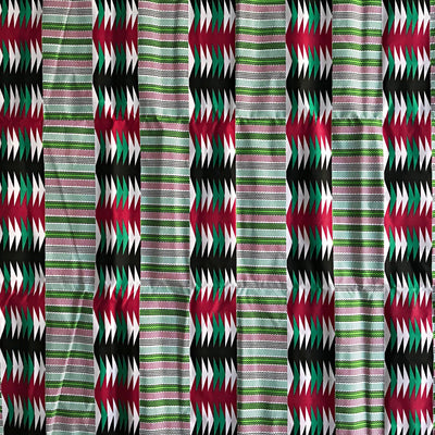 Fabric - Polyester Kente African Fabric / 1 Yard