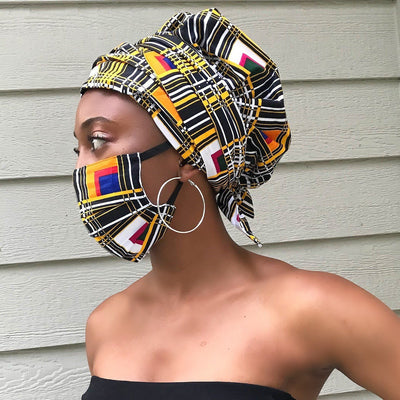 Zarah African print face masks for adults - Afrilege