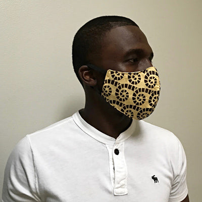 African print face masks for adults - Afrilege
