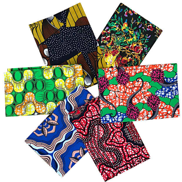 10 RANDOM Fat quarter bundle cotton - Afrilege