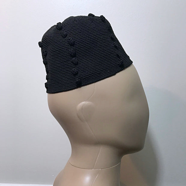 Black Handwoven attire hat from Cameroon - Afrilege