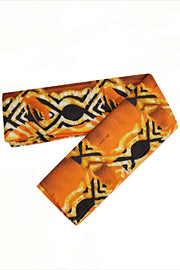 Ayo African print Headwrap - Orange/Black - Afrilege