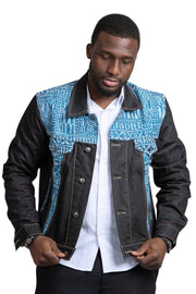 Ndop Men African Print Denim Jackets - Afrilege