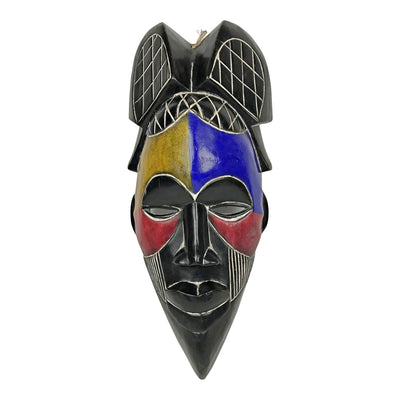 Tikar Hand Carved Colorful Mask - Afrilege