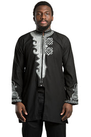 African Men's Wear Black Panther Wakanda inspired / t'challa costume ( Shirt + Pant) - Afrilege
