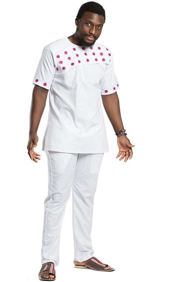 Faraji Unisex 2-pieces African clothing for men (shirt + pant) - Afrilege