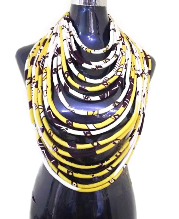 barka Ankara statement 15 lines necklace set ( necklace - bracelet - earrings) - Afrilege