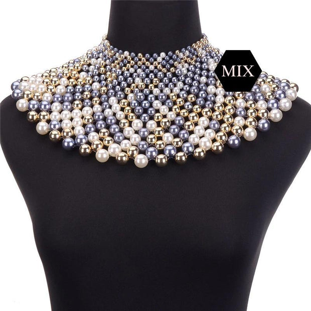 Egyptian Inspired Style Maxi Choker Necklace - Afrilege