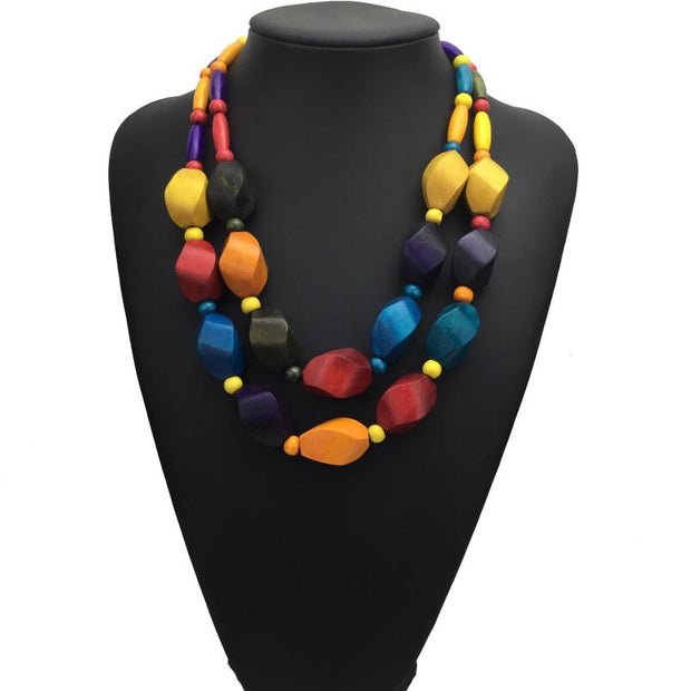Layered Beads Necklace - Afrilege