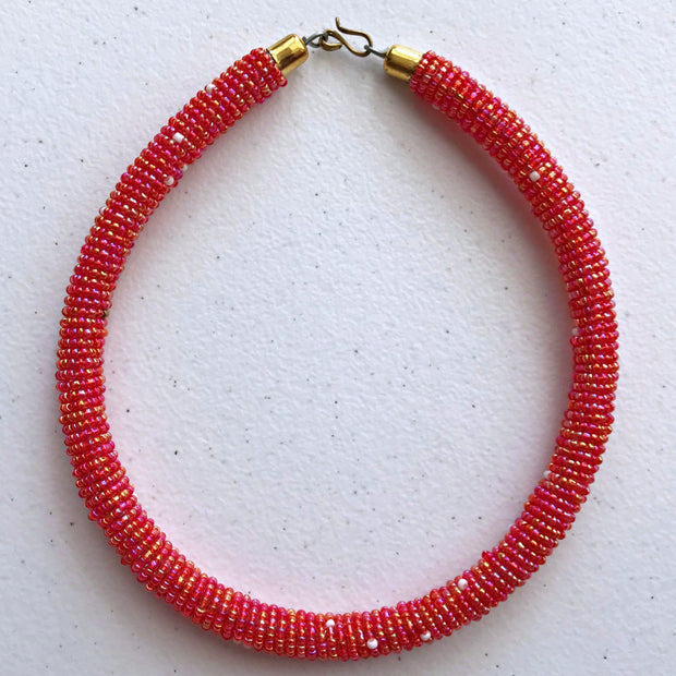 Maasai beaded necklace - Afrilege