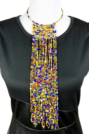 Beaded African Statement Necklace - Afrilege