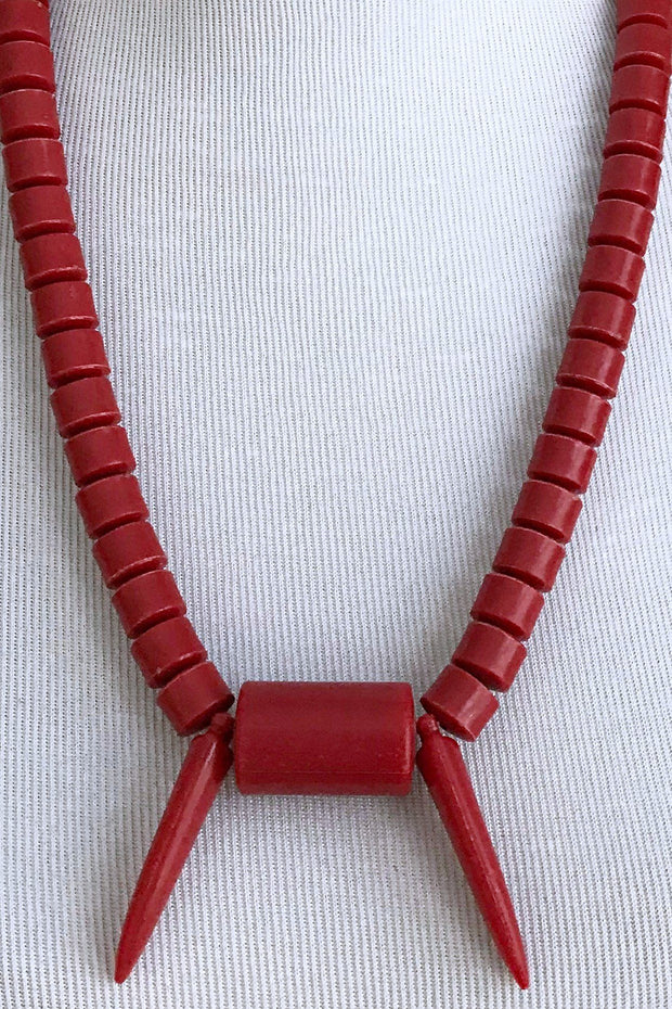 Red Igbo Nigerian Wedding necklace for men - Afrilege