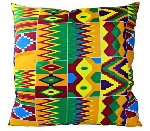 African Print Throw Pillow Case with Bow (Purple Kente) - Afrilege