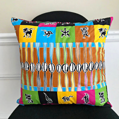 Lulu African Print Decorative Cushion Pillow Covers - Afrilege