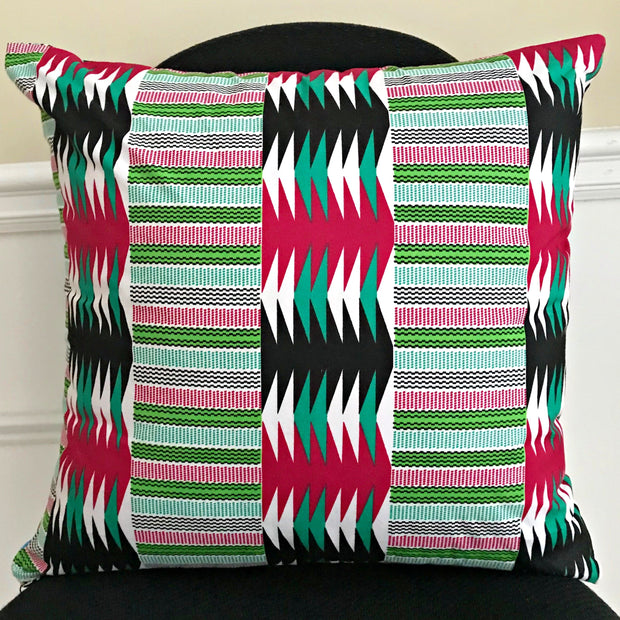 Lulu African Print Decorative Cushion Pillow Covers - 2 SIDES & 2 PRINTS - Afrilege