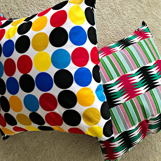 Penina African Print Decorative Cushion Pillow Covers- 2 SIDES & 2 PRINTS - Afrilege