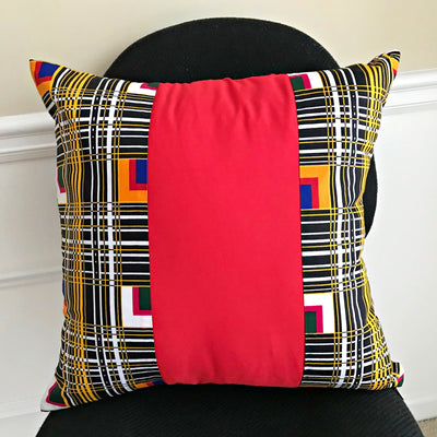Zarah African Print decorative cushions - Red - Afrilege