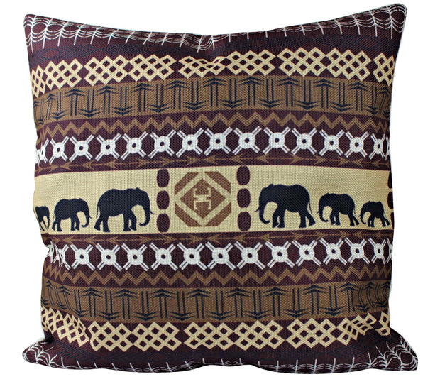 African Bohemian Pillow Covers - Brown - Afrilege