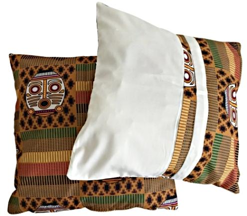 Salama African Print Afritude Pillow Covers - Brown - Afrilege