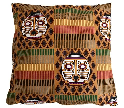 African Print Afritude Pillow Covers - Brown - Afrilege