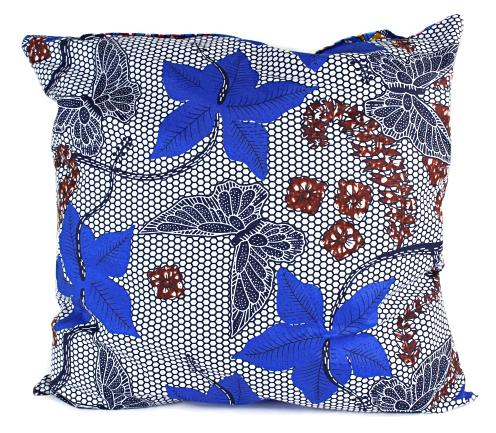 African Print Two-Sided Reversible decorative cushions Pillow Covers (Blue, Pink) - Afrilege