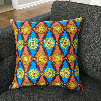 African Print Two-Sided Throw Pillow Covers - 2 SIDES & 2 PRINTS - Afrilege