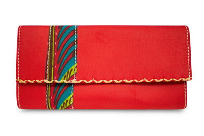 Ayana African Print Purse Wallet (Red) - Afrilege