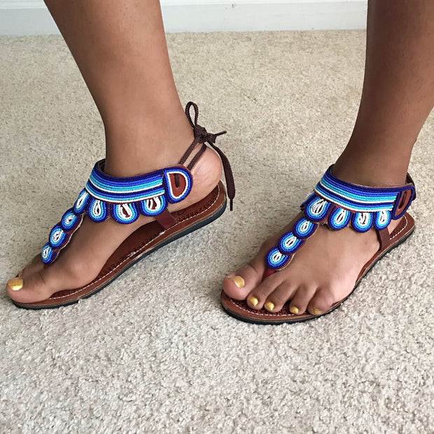 African Maasai Beaded Women's Sandals - Afrilege