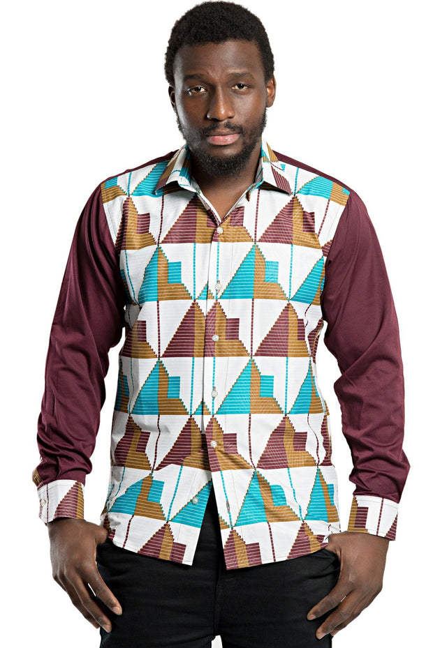 Imari African Men Long Sleeve Shirt - Afrilege