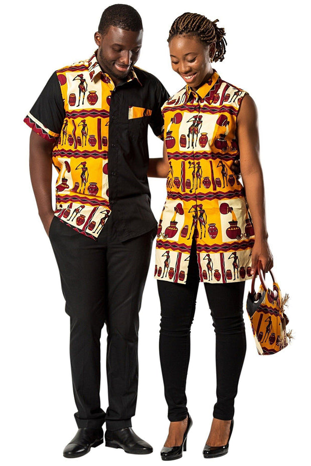 African Print Chike Women's Shirts - Afrilege