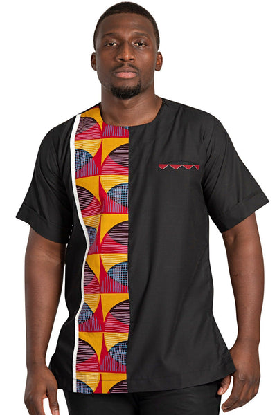 Arun Short Sleeves African Print Men Shirt - Afrilege