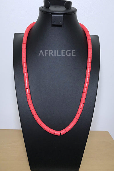 Coral igbo Nigerian Wedding necklace for men - Afrilege