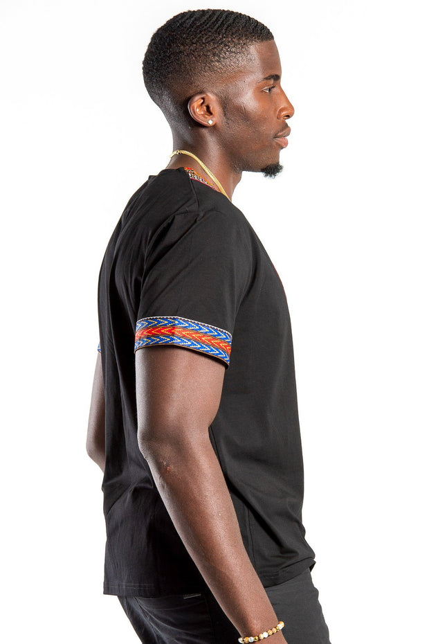 Black African Dashiki Men T-Shirt - Afrilege