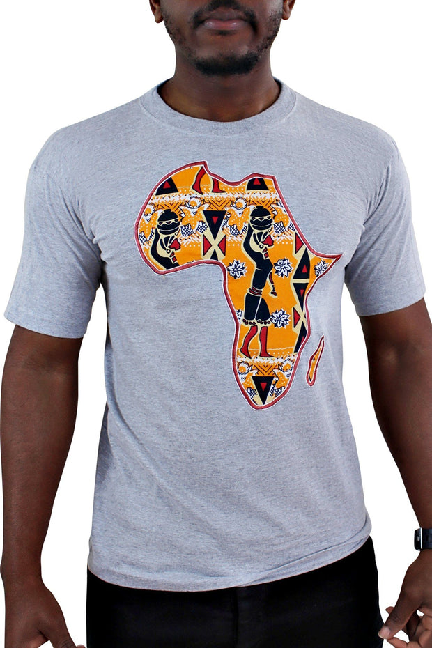 Grey Africa Men T-shirt - Afrilege