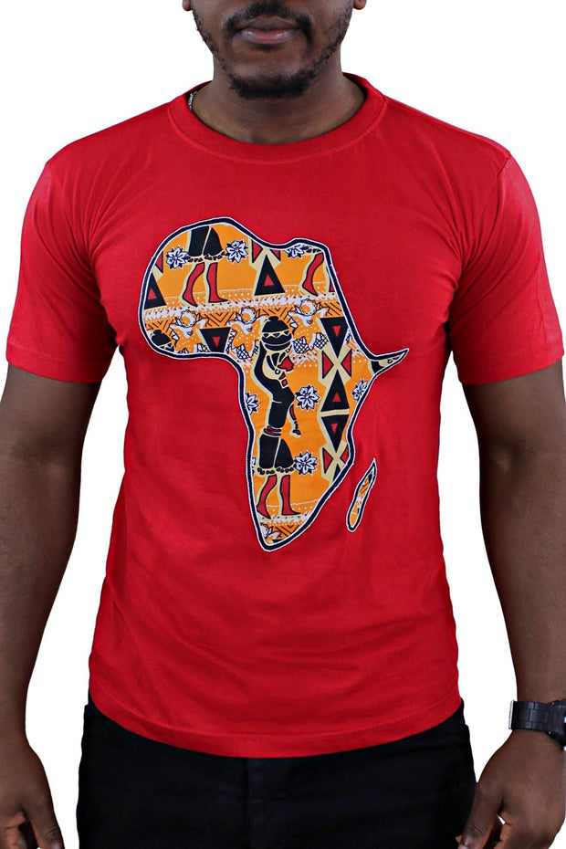Red Africa Men T-shirt - Afrilege