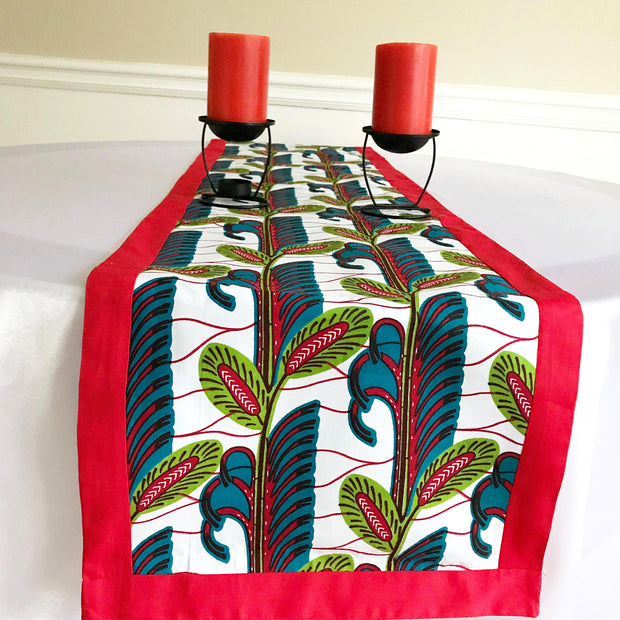 Ayana African Print table runners (Red/ Green/ Blue) - Afrilege