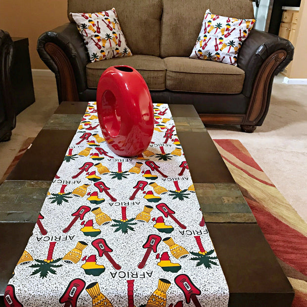 Jamai African Print table runners - Afrilege