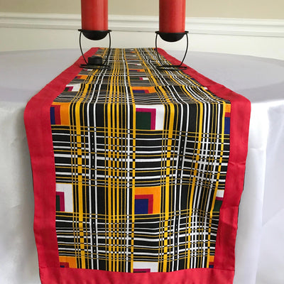Zarah African Print table runners (Red/ Black) - Afrilege