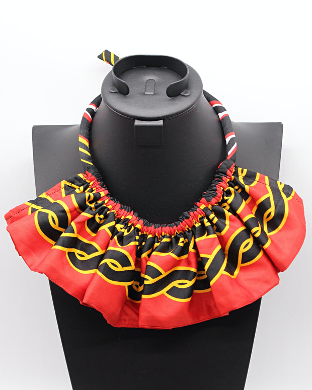 Toghu African Print skirt Jewelry Set ( Necklace - Bracelets) - Afrilege
