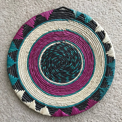 Colorful African hand woven trivets - Afrilege