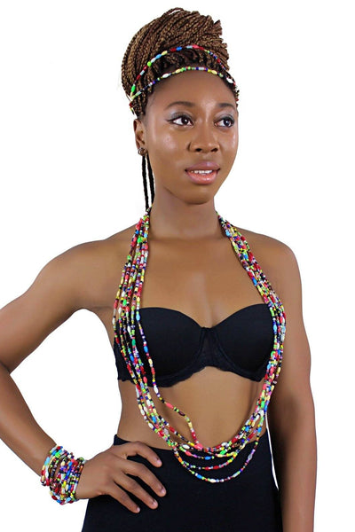 African beads body chain- waist / belly chain - Afrilege