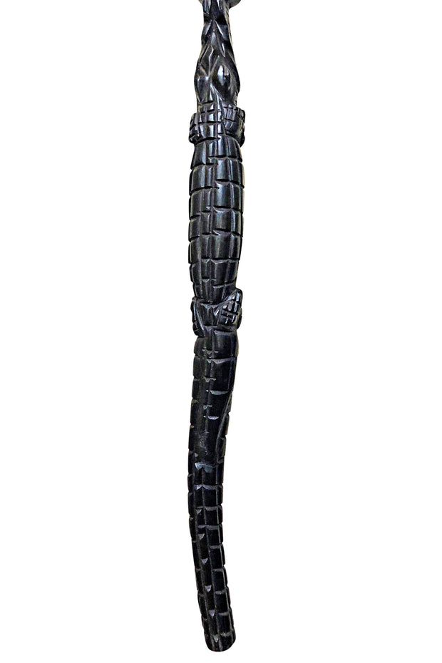Ebony Wood Carved Walking stick / cane - Afrilege