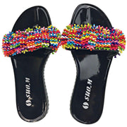 Colorful Beads Women African Sandals US 6.5-7 / EU 37 - Afrilege